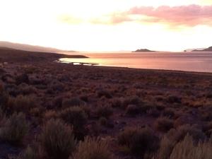 Lake at distance dusk